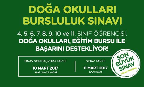 DOĞA OKULLARI BURSLULUK SINAVI'NA KATIL, EĞİTİM BURSUNDAN FAYDALAN!